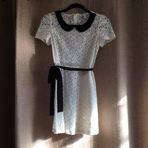 White and black dress